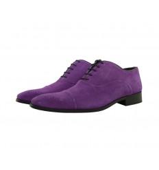 Zapato blucher con cordones piel serraje