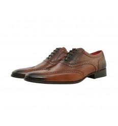 Zapato piel boxcalf blucher cepillado